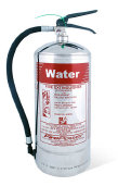 6Litre Polished Steel Water Fire Extinguisher